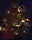 Gold design ornament Stock Image