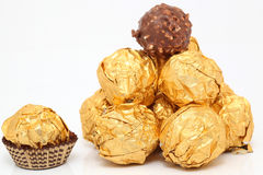 Gold desserts Stock Photo