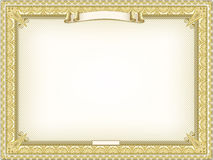 Gold detailed certificate Stock Images
