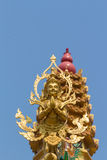 The gold deva statue Royalty Free Stock Photography