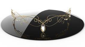 Gold diadem with diamonds #2 Royalty Free Stock Photo