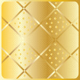 Gold diagonal geometric pattern. Gold diagonal texture pattern. Vector file with layers. Gold diagonal cross stripes with stars on gold background. For art Stock Images