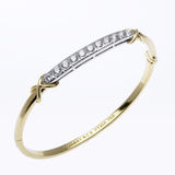 Gold and Diamond Bracelet Royalty Free Stock Photos