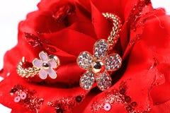 Gold and diamond bracelet stock photography
