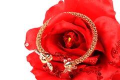 Gold and diamond bracelet Royalty Free Stock Photo