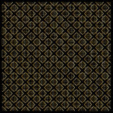 Gold Diamond Checkered pattern on black. Gold Diamond Checkered on black background. Gold Seamless background pattern with diamond shapes and ornament. Vector stock illustration