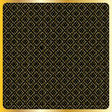 Gold Diamond Checkered pattern Vector Royalty Free Stock Images