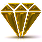 Gold diamond icon Stock Photo
