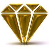 Gold diamond icon Stock Photo