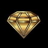 Gold diamond image. Concept of luxury Royalty Free Stock Image
