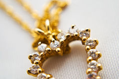 Gold and Diamond Necklace Stock Image