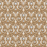 Gold diamond pattern. Vintage gold ornament, jewelry seamless pattern with diamonds Royalty Free Stock Photo