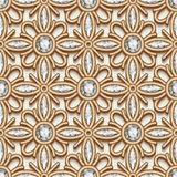 Gold diamond pattern Stock Photography