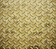 Gold diamond plate Stock Photo