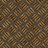 Gold Diamond Plate Stock Image