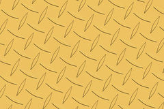 Gold diamond plate texture. Gold tepered diamond shape plate Stock Photography