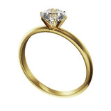 Gold diamond ring Stock Photos