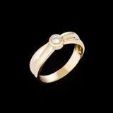 Gold Diamond ring Royalty Free Stock Image