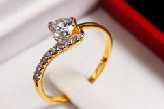 Gold diamond ring Royalty Free Stock Photos