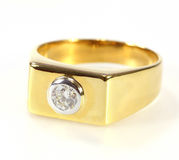 Gold diamond ring Stock Photography