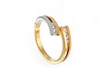 Gold diamonds ring Stock Photo