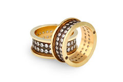 Gold diamonds  rings Royalty Free Stock Images
