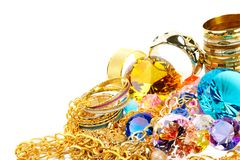 Gold and diamonds Stock Photos