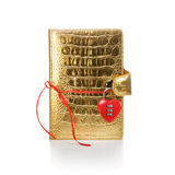 Gold Diary with Padlock Royalty Free Stock Images
