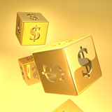 Gold Dice stock illustration