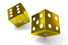 Gold dices Stock Image