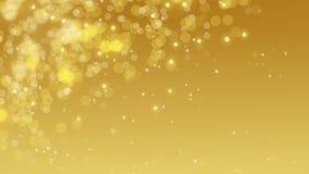 Gold digital bokeh background. stock footage