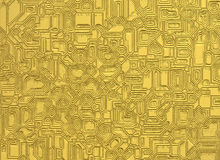 Gold digital futuristic abstract objects backgrounds Stock Image