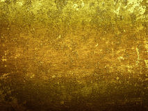 Gold Dirt metal surface with space for text Stock Photos