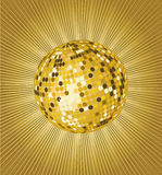 Gold disco ball Royalty Free Stock Photos