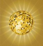Gold disco ball. Vector illustration Royalty Free Stock Photos