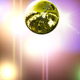 Gold disco ball Royalty Free Stock Photography