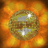 Gold disco ball background Royalty Free Stock Photography