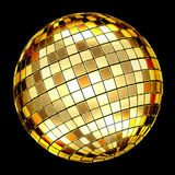 Gold disco ball Royalty Free Stock Image