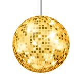 Gold Disco Ball Vector. Dance Club Retro Party Classic Light Element. Mirror Ball. Isolated Illustration royalty free illustration