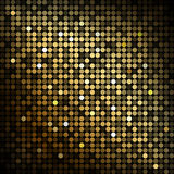 Gold disco lights Stock Photos