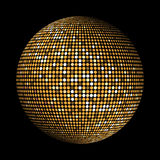 Gold disco lights circle abstract background Stock Images