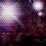 Gold disco lights - vector abstract background Stock Image