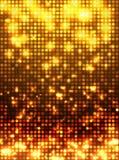 Gold disco mosaic background Royalty Free Stock Photo