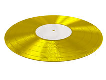 Gold disk record Stock Photography
