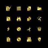 Gold document icons Royalty Free Stock Photos