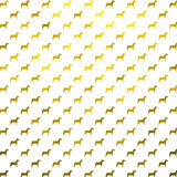 Gold Dogs Faux Foil Metallic Dog Polka Dots White Background Stock Photos
