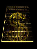 Gold Dollar Royalty Free Stock Photos