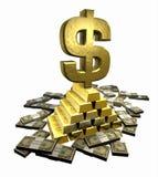 Gold_dollar_2 Immagini Stock