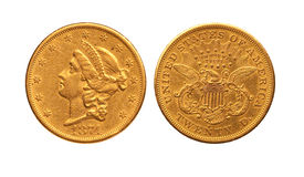 Gold dollar Royalty Free Stock Images