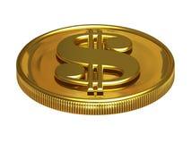 Gold dollar Royalty Free Stock Photo